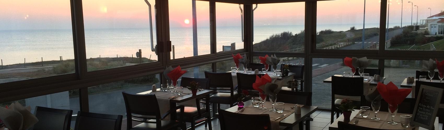 Restaurant vue face mer à Bretignolles
